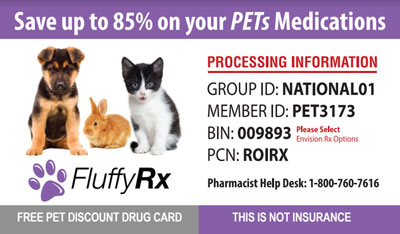 Pets Medication Card - Prescription Discount Card